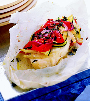 Finfish and Vegetables in Papillote recipe