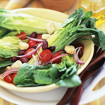 Romaine Hearts with Lemon-Honey Vinaigrette