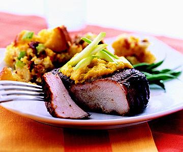 Grilled Applewood Smoked Pork Chops