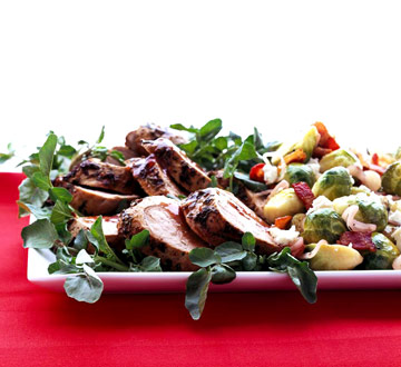Herb-Crusted Pork Tenderloin with Red Currant Sauce