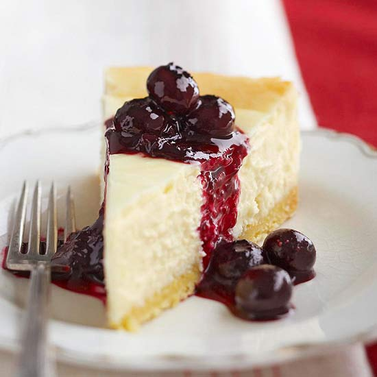 Blueberry-Topped Lemon Cheesecake