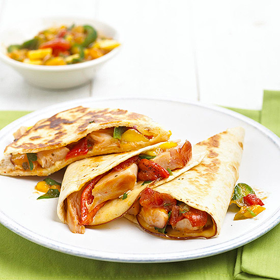 Turkey-Mango Quesadillas