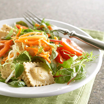 Ravioli and Greens Salad