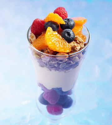 Custard Parfaits with Granola