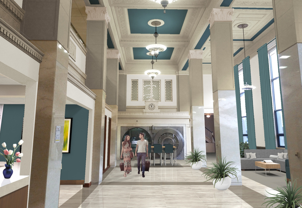 Rendering of Hotel Phillips interior
