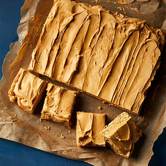 Salted Oatmeal Bars with Roasted White Chocolate Frosting