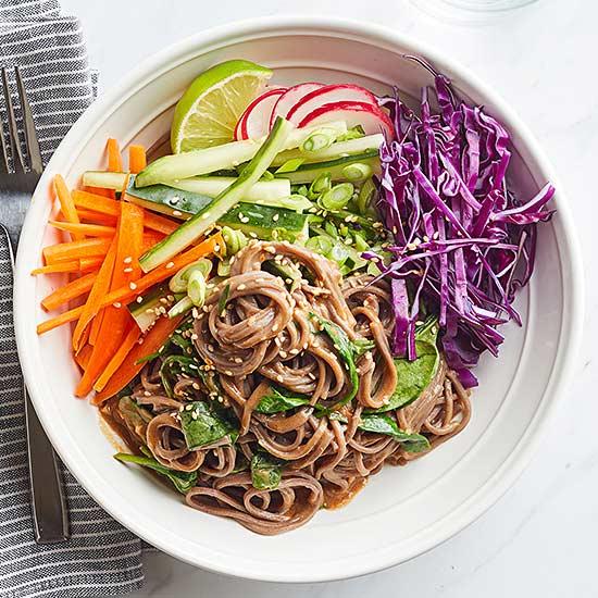 Rainbow Soba Noodle Bowls