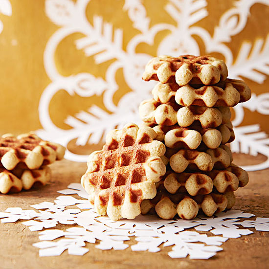 Honey-Spice Waffle Cookies