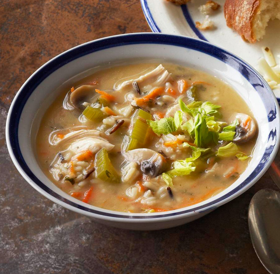 Slow-Cooker Wild Rice and Chicken Soup
