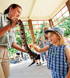 A visit to the Indy Zoo may give little ones the chance to get up close and personal with some of the residents.