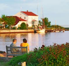 Scenic Artists' Point hides behind the red-roofed Coast Guard station. Photo: Jay Wilde.