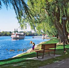 St. Charles Riverboat Cruises sets out on daily sightseeing trips.