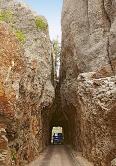 The narrow Needles Highway