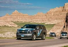 Road Rally in Badlands National Park