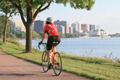 Biking around Lake Monona