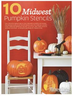 Midwest Pumpkin Stencil Sheets.