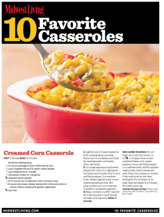 MWL 10 Favorite Casseroles