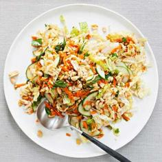 Sweet and Spicy Cabbage Peanut Slaw