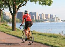 Biking Lake Monona