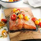 Planked Salmon with Tomato Salsa
