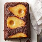 Spiced Pear-Chocolate Upside-Down Cake