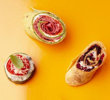 Savory Cream Cheese Spread with Party Wraps recipe