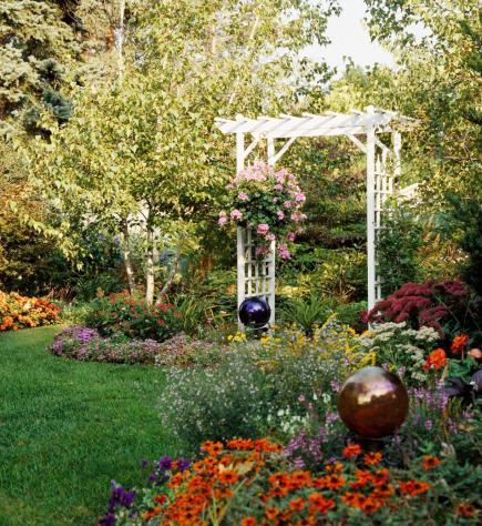 Backyard Flower Garden 35 beautiful backyards | midwest living