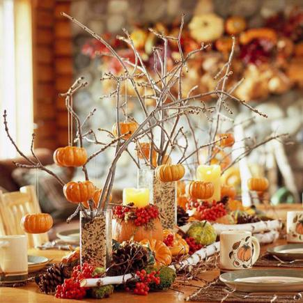 35 ideas for easy thanksgiving decorating midwest living Fall decorating ideas for dinner party