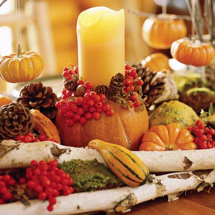 harvest holder - Thanksgiving Centerpieces Ideas
