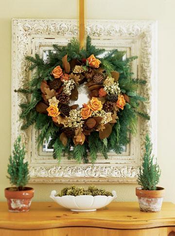 Grapevine wreath makeover