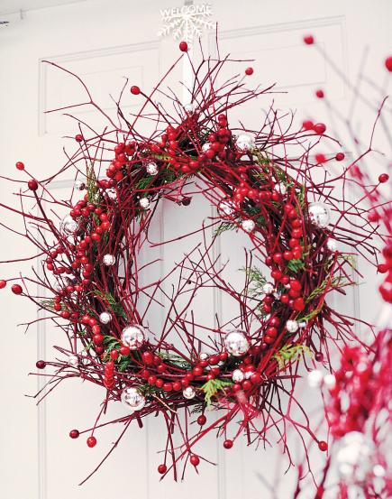 Holiday decorating with cranberries midwest living for Artificial cranberries decoration