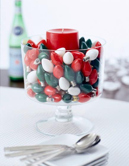 christmas centerpiece ideas christmas lights - Centerpiece Ideas