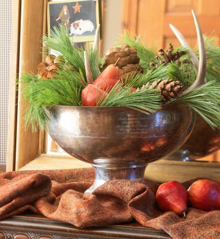 Bountiful bowl & 50 Easy Christmas Centerpiece Ideas | Midwest Living