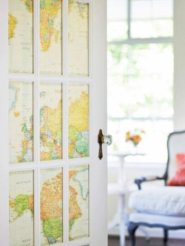 10 ideas for decorating with maps midwest living