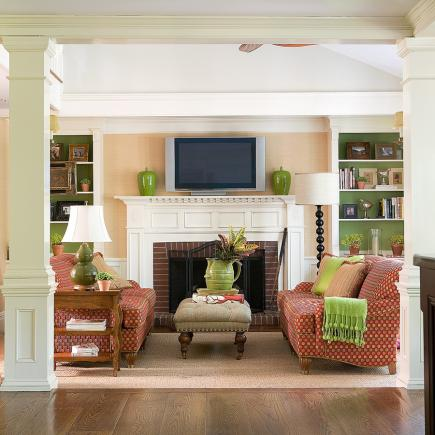 family room fireplace ideas.  15 Comfortable Family Rooms Midwest Living