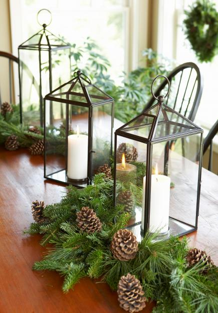 christmas centerpiece ideas lantern