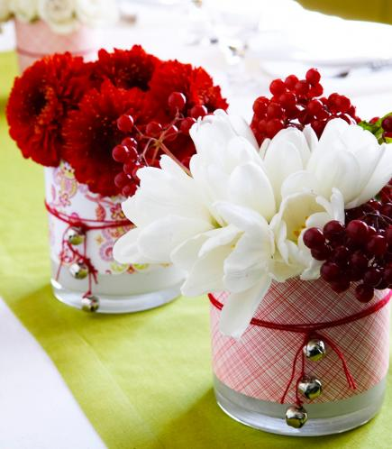 christmas centerpiece ideas decorative vases