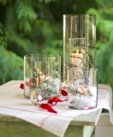 christmas centerpiece ideas candles - Christmas Centerpiece Decorations