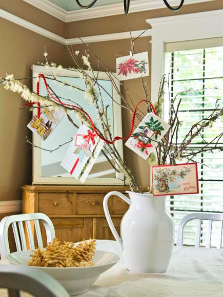 christmas centerpiece ideas card tree - Dining Room Table Christmas Decoration Ideas