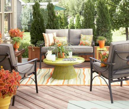 Backyard furniture ideas Deck Create Privacy Midwest Living 30 Ideas To Dress Up Your Deck Midwest Living