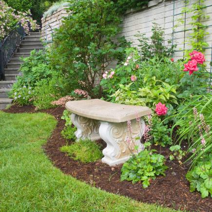 decorative seating - Flower Garden Ideas Illinois