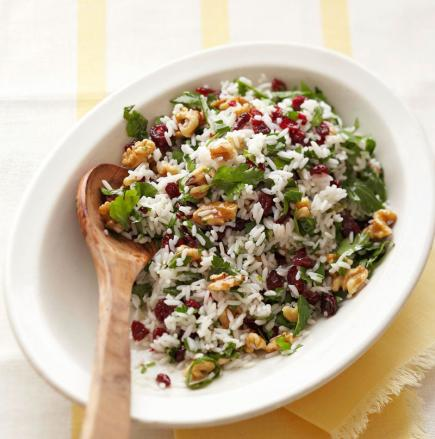 Parsley-Herb Rice with Cranberries