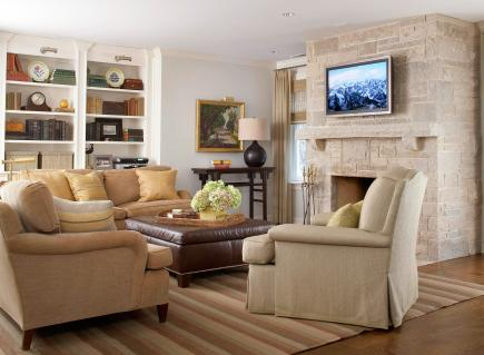 smooth neutrals - Family Room Decorating Ideas