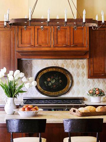 Quick and Easy Kitchen Backsplash Updates | Midwest Living on lighting above stove, cabinets above stove, backsplash behind stove, tile mural above stove, microwave above stove, accent tile above stove, subway tile above stove, decorative tile above stove,