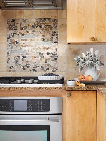 Quick and easy kitchen backsplash updates midwest living - Simple kitchen tiles ...