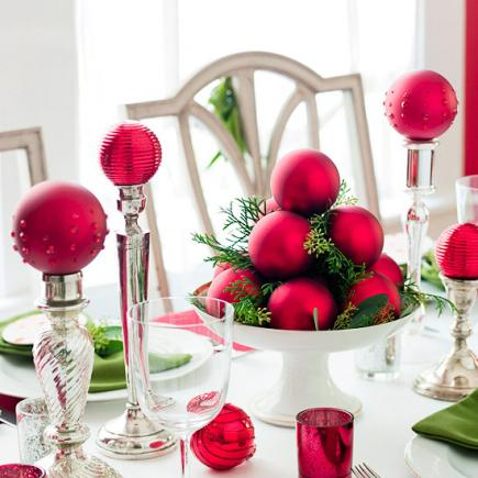 christmas centerpiece ideas ornaments - Christmas Centerpiece Decorations
