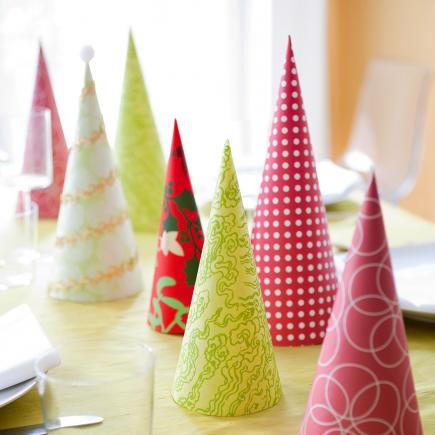 christmas centerpiece ideas paper trees - Homemade Christmas Table Decorations