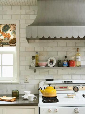 30 Quick and Easy Ideas for Kitchen Organization | Midwest Living on lighting above stove, backsplash behind stove, tile mural above stove, decorative tile above stove, microwave above stove, accent tile above stove, cabinets above stove, subway tile above stove,
