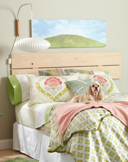 28 easy headboard projects midwest living for Easy diy headboard cheap