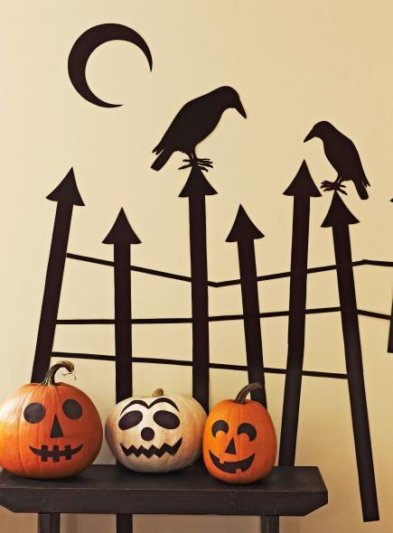 skillful ideas halloween wall decor decorations scenes diy uk